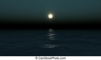 Moon reflected on water