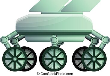 Moon rover icon, cartoon style