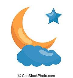 moon star cloud