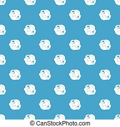 Moon stone pattern seamless blue