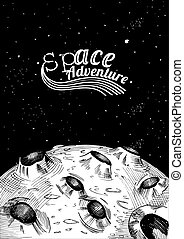 moon surface Space adventure