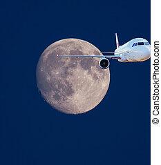 Moon travel concept