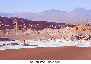 Moon valley in Atacama desert.