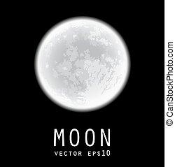 moon., vecteur, illustration., entiers