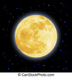 Moon - The moon  is moving smoothly around for Earth