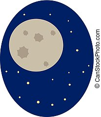 Moon, vector or color illustration.
