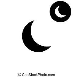 moon  - white vector icon