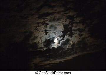 moon with clouds at night