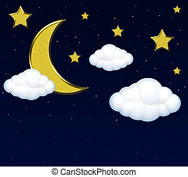 Moon With Clouds In The Night Sky Canstock Night sky archives it s me jd. moon with clouds in the night sky