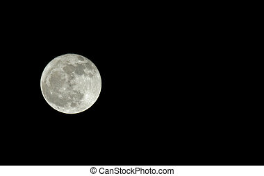 Moon with copy space