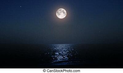 moonbeam, mer lune, nuit