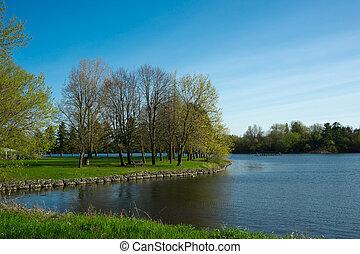 Mooney's Bay Park - A small jetty in Mooney's Bay Park on...