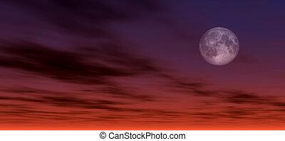 Moonlight background, digitaly created