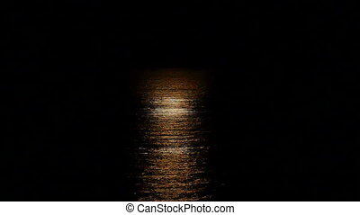 moonlight reflections on the water