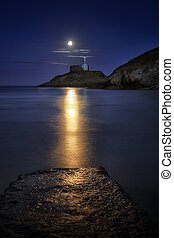 Moonlit Mumbles Lighthouse