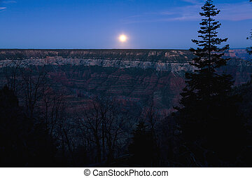 Moonrise Grand Canyon
