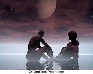 moonrise, moonset.