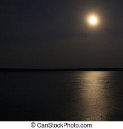 Moonrise over Dore Lake