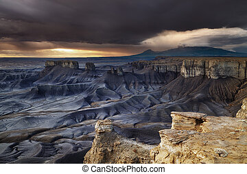 Moonscape Overlook in Utah desert - Moonscape Overlook at...