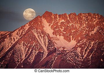 Moonset Behind Basin Mountain