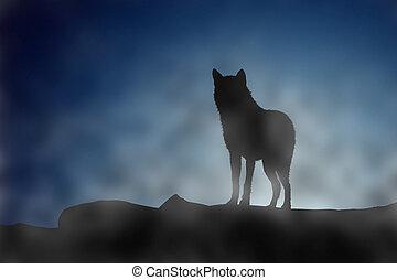 moonset, wilk