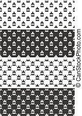 Moonshine Seamless Pattern Set - This image is a...