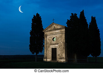 Moonshine Tuscan chapel
