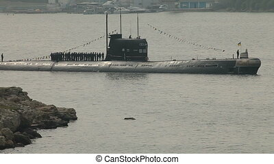 Moored Submarine - Moored Ukrainian submarine Zaporizhia in...