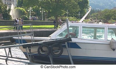 Moored tourist boat, Stresa. - Moored tourist boat Stresa....