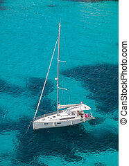 moored, yacht, meer