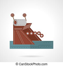 Mooring equipment flat  style vector icon