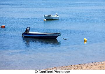 Mooring of boats near the shore