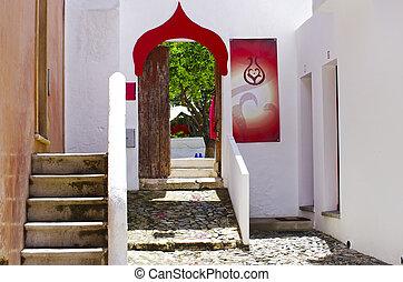 Moorish  architecture at old  village