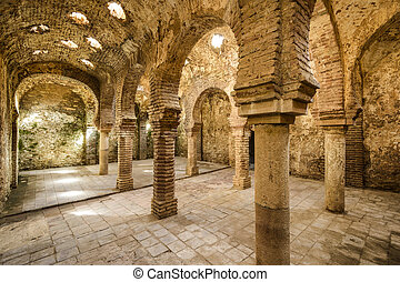 Ronda, Spain at the Arab Baths dating from the 11th-12th Centuries.