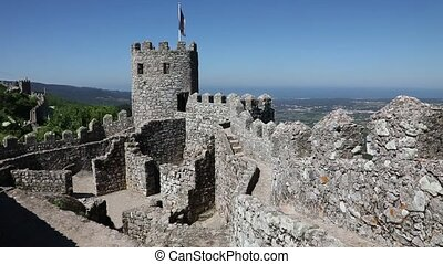 Moorish castle at sunny morning