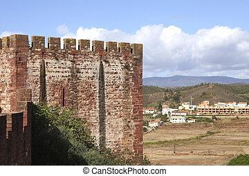 Moorish castle of Silves in Portugal