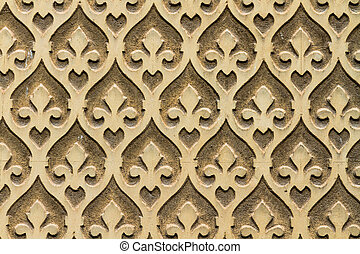 Moorish floral wall decoration, Spain