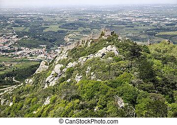 Moorish Hill Fortress In Sintra