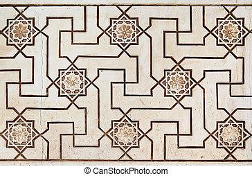 Moorish stone carving - Old moorish stone carving close-up