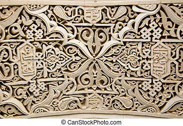 Moorish style stucco background - A detail of a Moorish ...