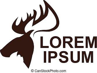moose animal logo