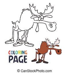 moose cartoon coloring page