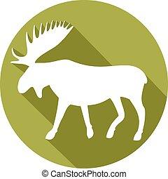 moose flat icon