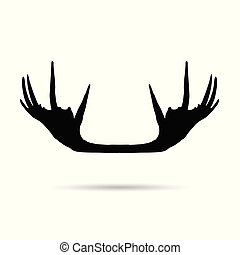 moose horn silhouette