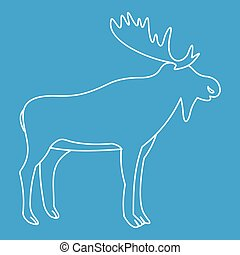 Moose icon, outline style