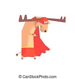 Moose Super Hero Character