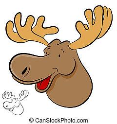 Moose Wild Animal - An image of a moose wild animal cartoon.