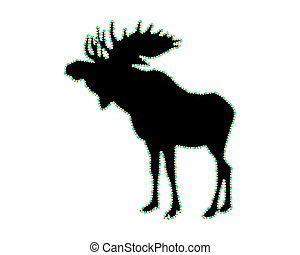 Moose with lucent border strip