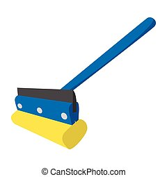 Mop for cleaning windows icon - Mop for cleaning windows...