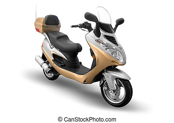 Moped isolated on a white background
